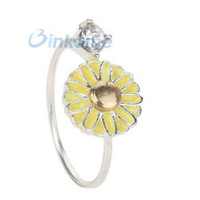 fresh Open Design Adjustable Flower Ring in Silver Plated Hot Jewelry