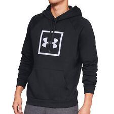 Under Armour Rival Fleece Logo Hoodie schwarz/weiß - Kapuzensweater 1329745-001