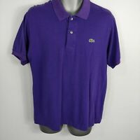 MENS LACOSTE PURPLE SHORT SLEEVE POLO SHIRT TOP SIZE 3 S SMALL
