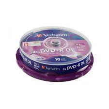 1 Tarrina de 10 Unidades DVD+R DL Doble Capa VERBATIM 8x 8.5 GB DVD DOUBLE LAYER