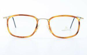 RODENSTOCK Glasses Model R2351 C 52 21 145 Square Eye Frame Amber Gold Black