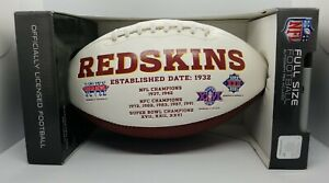 Washington Redskins Full Size Embroidered Football Officially Licensed Old Logo