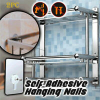 Self Adhesive Hanging Nails Nail Free Wall Hook  for Bathroom Kitchen 2Pcs/set