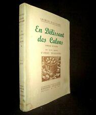 En DELISSANT des CALONS gravure DESLIGNIERES Poesie Regionalisme Patois Nièvre !