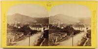Francia Ribeauvillé Alto Reno Foto Stereo Saglio & Peter c1865 Albumina Vintage