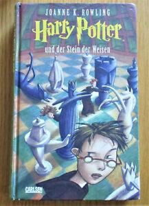 Joanne K. Rowling - Harry Potter und der Stein der Weisen ROMAN Carlsen 2000