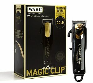 Wahl Professional 5-Star Limited Edition Black&Gold Cordless Magic Clip 8148-100