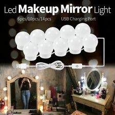 LED Dimmable Mirror Lights Bulbs Kit USB Lamp Vanity Hollywood Style Make Up