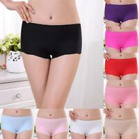 Women Briefs Invisible Underwear Underpants Boxer Briefs Spandex Seamless Crotch