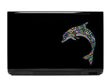 Ornate Dolphin Vinyl Laptop or Automotive Art sticker decal computer auto