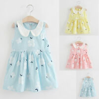 Toddler Kids Baby Girls Party Wedding Summer Sleeveless Dress Princess Dress