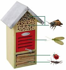 Esschert Design Hôtel à insectes Nichoir 19x14, 5X32 CM NEUF Emballage d'origine