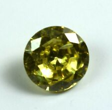 Lemon Zircon Loose Gemstone 3.45 Ct Natural Round Cut Certified Best Offer C64