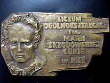 BRONZE MEDAL - MARIE CURIE - 2 different Nobel Prizes 1903-1911 Medicine N112