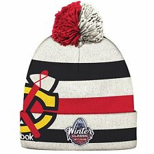 Chicago Blackhawks Youth 8-20 2017 Winter Classic Players Reebok Cuffed Knit Hat