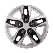 4Pcs Car Chrome Wheel Rim Skin Cover 12 Inch Hub Caps Hubcap Wheel Cover Sliver