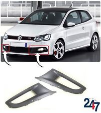 NEW VOLKSWAGEN VW POLO 6R GTI 2009 - 2017 FRONT BUMPER LOWER GRILL PAIR SET