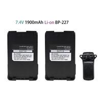 2X 1900mAh Li-Ion BP-227 Battery for ICOM IC-M87 IC-M88 IC-E85 IC-V85
