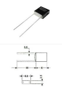 fusibile termico radiale 102°C 250V 2A ampere termofusibile thermal fuse