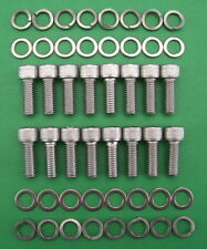 SB V8 FORD 289-302 exhaust headers stainless steel cap head bolt kit