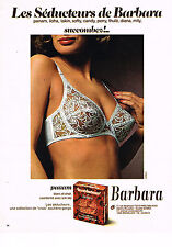 PUBLICITE ADVERTISING 044   1975   BARBARA  soutien gorge PANAM BLANC