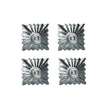 German Army Medium Silver Rank Pips 4 Pack - Ww2 Repro Shoulder Board Insignia