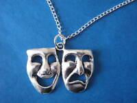 Comedy Tragedy Necklace Theatre Amatuer Dramatics Actor Drama Masks Charm