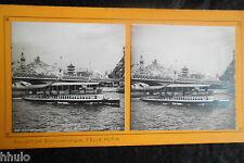 Sta519 paris expo 1900 le pont d' Iéna stereoview photo 1900
