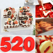 Silicone Numbers Cake Mould Baking Pan Baking Tin Birthday Anniversary Tools