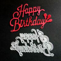 Happy Birthday Paper DIY.Template Die Cut Embossing Machines Cutting Mould Tool