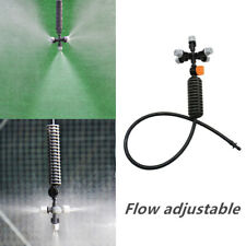 5-head Micro Irrigation System Fog Mist Cooling Nozzle Garden Greenhouse Lawn
