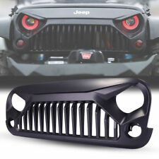 Black Front Gladiator Grille for 2007-2017 Jeep Wrangler JK Unlimited Rubicon