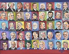 45 USA Presidents Original Fine Art PAINTING Modern Contemporary DAN BYL 4x5ft