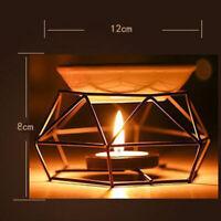 Clair Huile Brûleur Étagère Parfum Diffuseur Lampe Bougie Noir Support 12 8cm