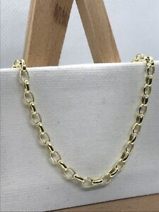 GENUINE 9ct Yellow Gold 3mm Oval Belcher Link Chain Necklace Brand new ALL SIZE