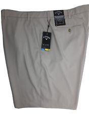 Callaway Mens Golf Performance Shorts 50B Khaki Polyester Spandex NEW