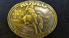 Montana Silversmith Vintage Rodeo Belt Buckle #1 American Sport Cowboy Bronco