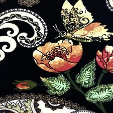 Buttery Soft Damask Floral Garden Butterfly Leggings One Size S M L Flowers OS