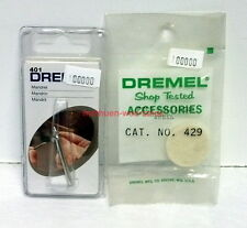 Dremel Rotary Tool Accessories~#401,429~Mandrel & Felt Polishing Wheel~NOS