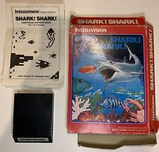 Shark! Shark! Intellivision With Box And Manual