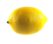Artificial Lemon Large - Yellow Plastic Fruit Lemons