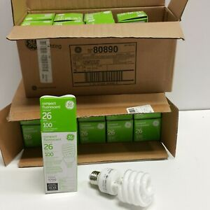 18 LOT 100W incandescent replacement using 26W GE Fluorescent Spiral Light Bulb