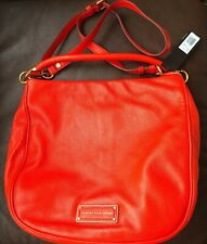NWT Marc By Marc Jacobs New Q Hillier Leather Hobo Crossbody Bag~Bright Tangelo