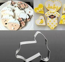 FD2793 Baby Cloth Stainless Steel Cookie Cutter Cake Baking Mould Biscuit Gift
