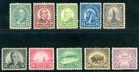 USAstamps Unused VF US 1931 Rotary Press Complete Set Scott 692-701 OG MLH