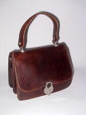 Orig.Etienne Aigner Tasche Bag Leder TRUE VINTAGE braun 60er 70er Jahre 60s 70's