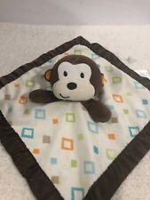 Garanimals Brown Tan Diamond Monkey Security Blanket Lovey