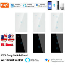 1/2/3Gang Smart Wifi Home Wall Light Touch Switch Glass Panel for Alexa Ifttt Us