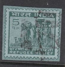 India 5np Refugee Relief Postal Stationary Cut Out Cds Vgc
