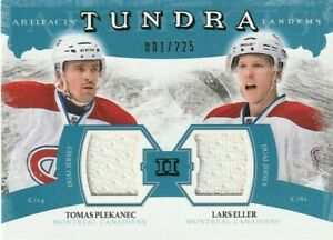 2011-12 UD Artifacts Tundra Tandems Jerseys Blue 001/225 PLEKANEC ELLER #TT2-PE